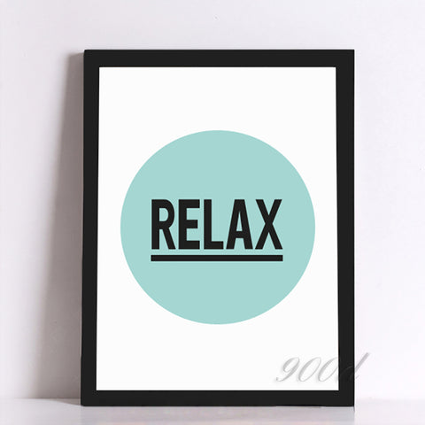 Relax Quote Canvas Art Print Painting Poster, Wall Pictures Home Decoration, Frame not include FA047