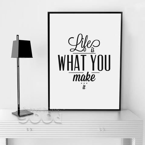 Life Quote Canvas Art Print Painting Poster, Wall Pictures For Home Decoration,  Wall Decor FA054