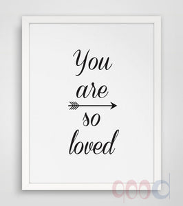 You Are Loved Quote Canvas Painting Poster, Wall Pictures For Home Decoration, Frame not include 218