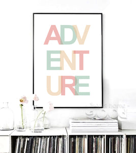 Adventure Quote Canvas Art Print Painting Poster, Wall Picture for Home Decoration, Wall Decor YE128
