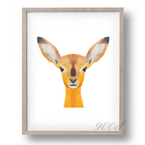 Triangle Deer Canvas Art Print Painting Poster,  Wall Pictures for Home Decoration, Home Decor FA386-1
