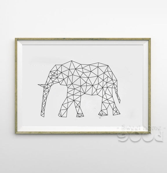 Geometric Elephant Canvas Art Print Painting Poster, Wall Pictures for Home Decoration, Wall decor FA221-3