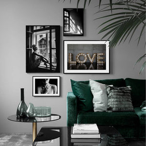 Poster Nordic Black And White Posters And Prints Decorative Picture Vintage Wall Painting Wall Art Canvas Painting Unframed