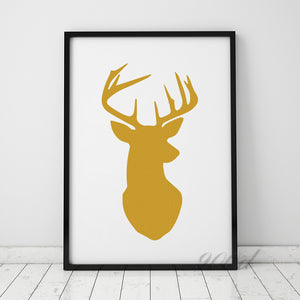 Gold Deer Head Canvas Art Print Painting Poster Wall Pictures For Home Decoration Home Decor Ye56 Write Review