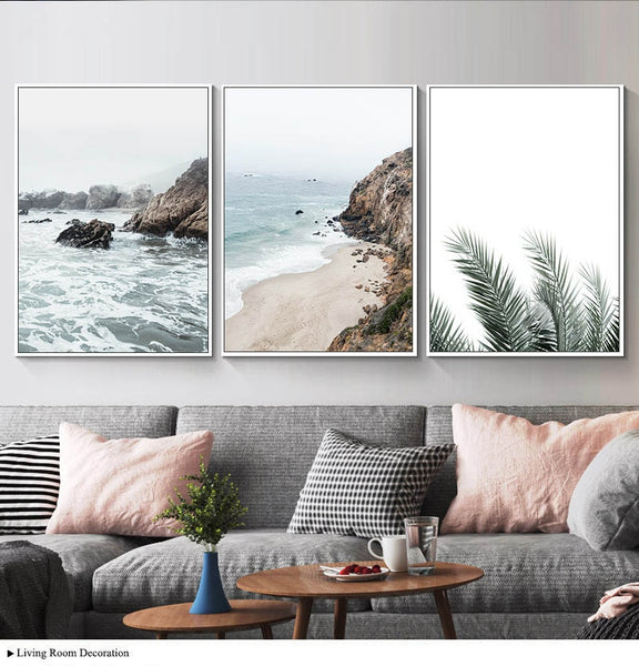 Landscape Wall Art Picture Tropical Sea Beach Nordic Poster Coastal Ocean Nature Seascape Canvas Print Painting Room Decoration