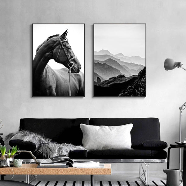 Scandinavian Motivational Quotes Wall Art Picture Black White Nature Scenery Poster Nordic Canvas Print Painting Home Decoration