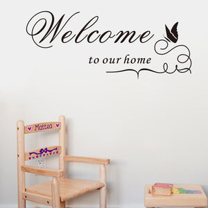 ebay hot selling Welcome our home Lettering vinyl wall Sticker Decal decorative quotes home decor Welcome to our home ZYVA-8181