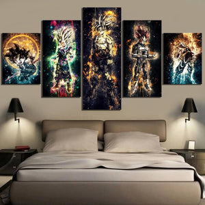 Home Decorative Canvas HD Print 5 Pieces Seven Dragon Ball Painting Modular Picture Wall Artwork Anime Poster for Bedroom Framed