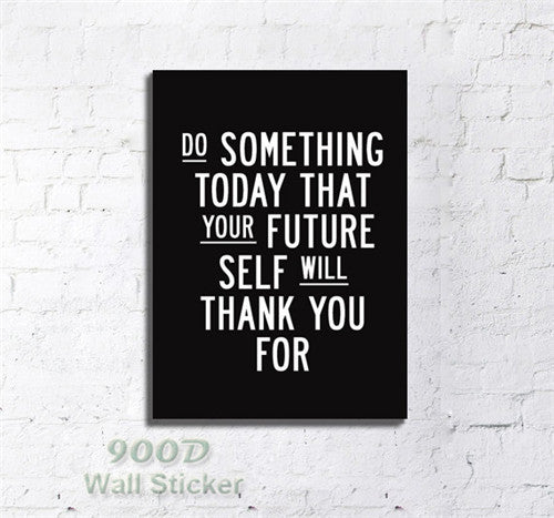 Vintage Quote Canvas Art Print Painting Poster, Inspiration Quote Wall Pictures For Home Decoration Print On Canvas,  set of 1