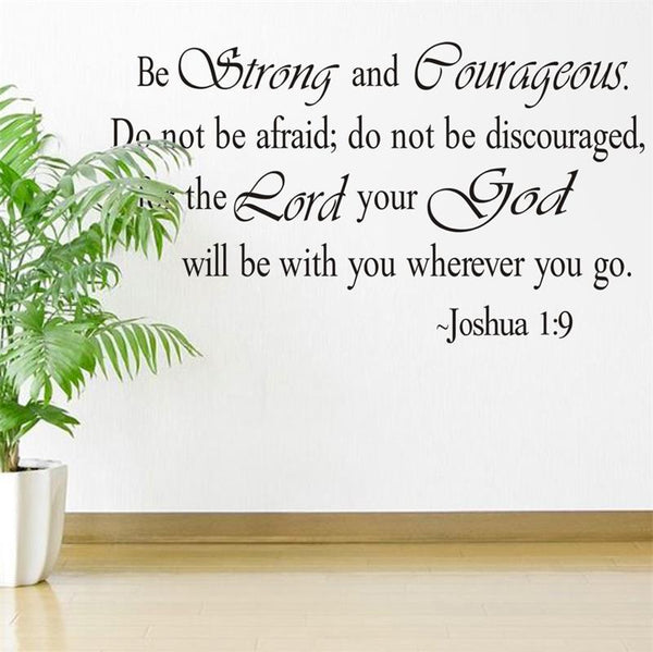 Christian Jesus Inspirational Quotes Vinyl Lettering Wall Stickers 8127 Decals for Living Bedroom Home Decoration English Quote