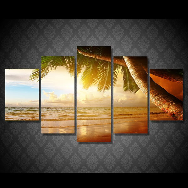 HD Printed tropical sunset paradise Group Painting room decor print poster picture canvas Free shipping/ny-1439