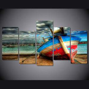 HD Printed old boat artistic Picture Painting on canvas room decoration print poster picture canvas Free shipping/ny-4158