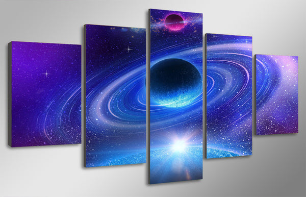 HD Printed Planet with rings Painting Canvas Print room decor print poster picture canvas Free shipping/ny-4961