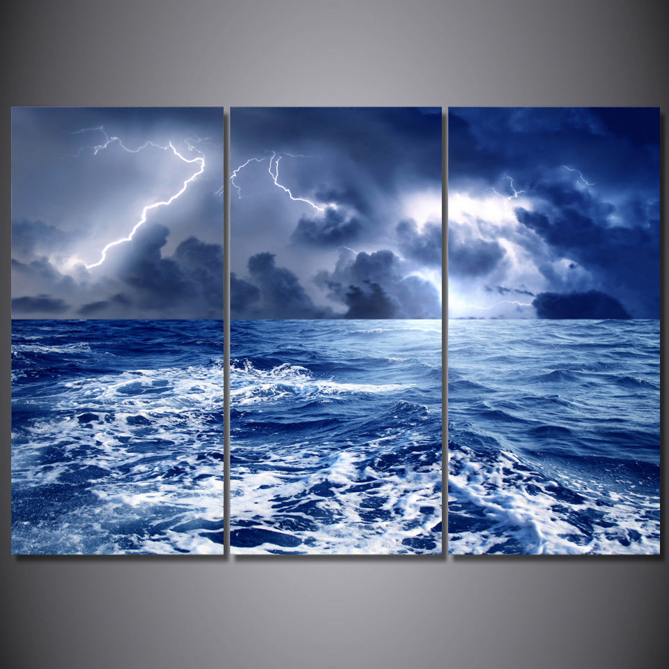 Printed weather rain sky clouds nature sea Painting Canvas Print room decor print poster picture canvas Free shipping/ny-5788