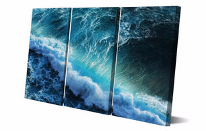 Printed Blue sea waves Painting Canvas Print room decor print poster picture canvas Free shipping/NY-5752