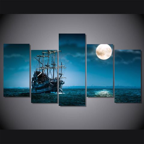 HD Printed fantasy ship boat art ocean sea Painting Canvas Print room decor print poster picture canvas Free shipping/NY-5781