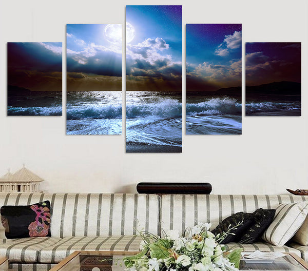 HD Printed moon moonlight night nature Painting Canvas Print room decor print poster picture canvas Free shipping/ny-4534