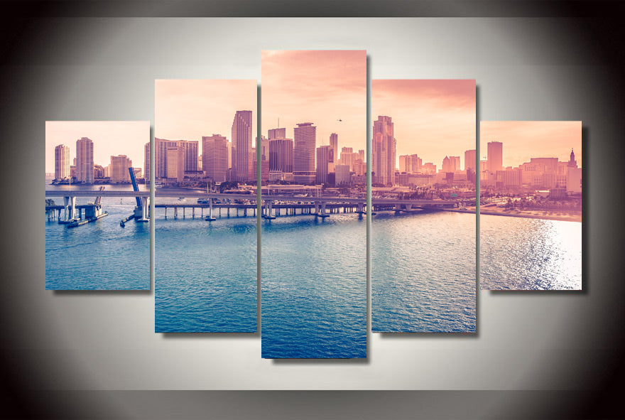 HD Printed miami world Painting Canvas Print room decor print poster picture canvas Free shipping/ny-2965