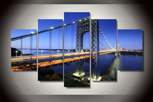 HD Printed george washington bridge Painting Canvas Print room decor print poster picture canvas Free shipping/ny-2722