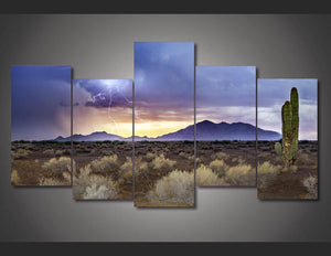 HD Printed arizona monsoon sunset Painting on canvas room decoration print poster picture canvas Free shipping/ny-1803