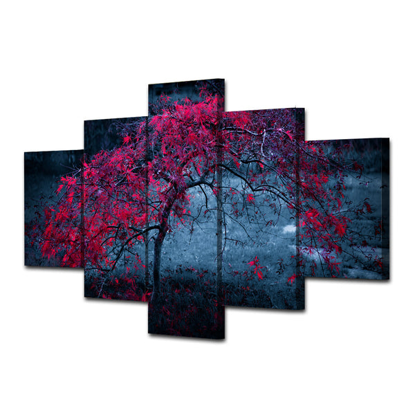 HD Printed tree leaves purple autumn Painting Canvas Print room decor print poster picture canvas Free shipping/ny-4924