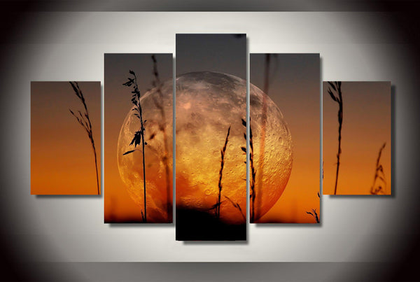 HD Printed Big Moon Painting Canvas Print room decor print poster picture canvas Free shipping/ny-2971