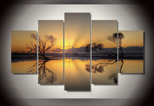HD Printed beautiful sunset Group Painting room decor print poster picture canvas decoration Free shipping/ny-259