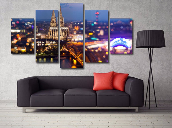 HD Printed City lights at night Painting Canvas Print room decor print poster picture canvas Free shipping/NY-5759