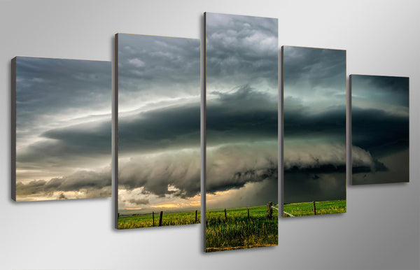HD Printed Field dark clouds Painting Canvas Print room decor print poster picture canvas Free shipping/NY-5959