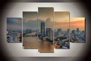 HD Printed bangkok tailand city Painting on canvas room decoration print poster picture canvas Free shipping/ny-2192