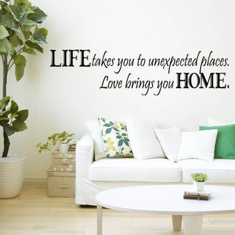 Love Brings You Home wall Quote wall decal decorative vinyl wall stickers Home Art Decoration 8081