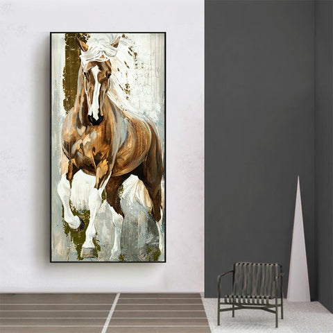 HDARTISAN Wall Art Painting The Horses Canvas Print Posters Animal Pictures For Living Room No Frame