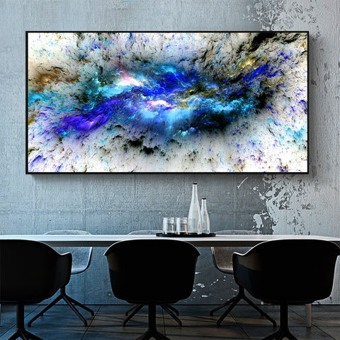 HDARTISAN Wall Art Canvas Print Landscape Painting Abstract Cloud For Living Room Home Decor No Frame
