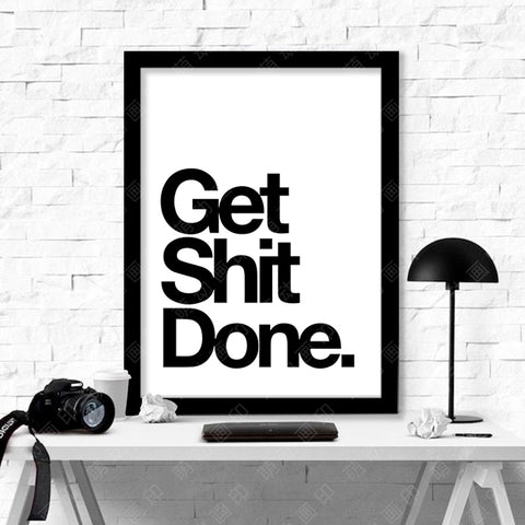 New Cuadros Get Shit Done Wall Pictures For Living Room Canvas Art Wall Art Canvas Painting Posters And Prints Picture Unframed