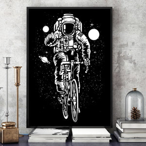 Astronaut Bicycle Fish Skater Galaxy Boat Wall Art Canvas Painting Nordic Posters And Prints Wall Pictures For Living Room Decor