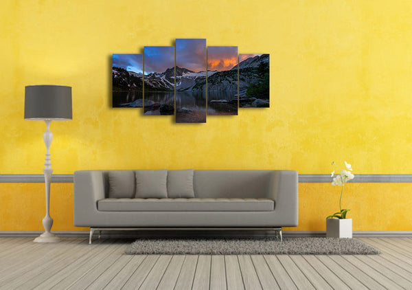 HD Printed ozero gory peyzazh Painting on canvas room decoration print poster picture canvas Free shipping/ny-4958