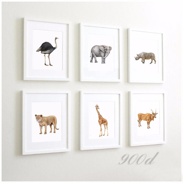Wild Africa Animals Set Canvas Art Print Painting Poster,  Wall Pictures for Home Decoration, Home Decor FA395