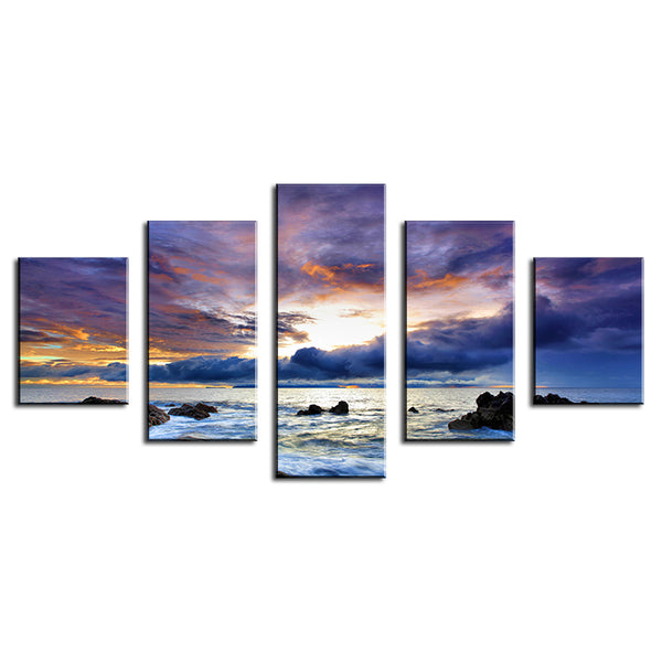 Wholesale NO FRAME Ocean Oil Painting Printed Painting Oil Painting On Canvas Oil Painting for Home Decor Wall Decor