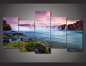 HD Printed Falls Scenic Painting Canvas Print room decor print poster picture canvas Free shipping/ny-2982