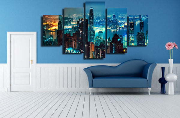 HD Printed cityscape skyscrapers art Painting Canvas Print room decor print poster picture canvas Free shipping/ny-6016