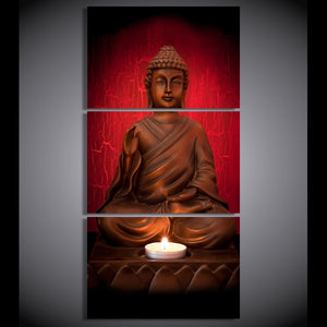 canvas art Printed Buddha Art Painting Canvas Print room decor print poster picture canvas Free shipping/NY-6354