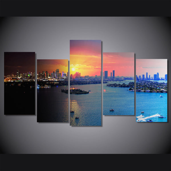 HD Printed florida miami Painting on canvas room decoration print poster picture Free shipping/ny-2065