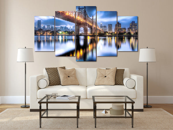 HD Printed queensboro bridge roosevelt Painting on canvas room decoration print poster picture canvas Free shipping/ny-2265