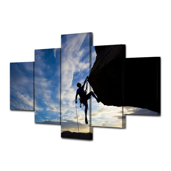 canvas art Printed climbing rock sunset Painting Canvas Print room decor print poster picture canvas Free shipping/ny-4907
