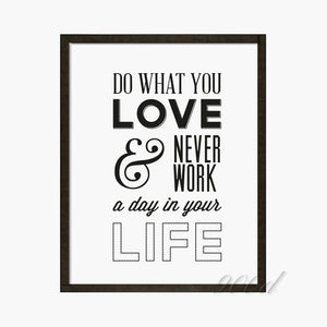 Love Quote Canvas Art Print Painting Poster, Wall Pictures for Home Decoration, Wall Decor FA357