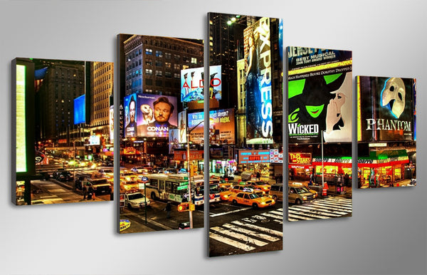 HD Printed New York times square Painting on canvas room decoration print poster picture canvas framed Free shipping/ny-1298