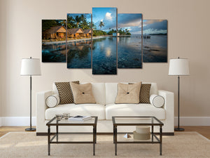 HD Printed Beach house 5 pieces Group Painting room decor print poster picture canvas Free shipping/ny-557