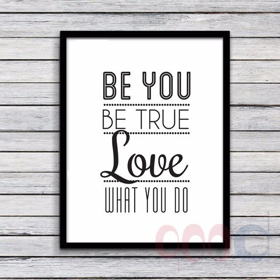 "Inspiration Quote ""Be you"" Canvas Art Print Poster, Wall Pictures for Home Decoration, Frame not include FA236-2"