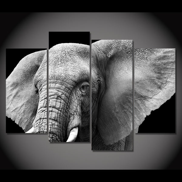 HD Printed elephant tusks ears ivory Painting on canvas room decoration print poster picture canvas framed Free shipping/NY-6273