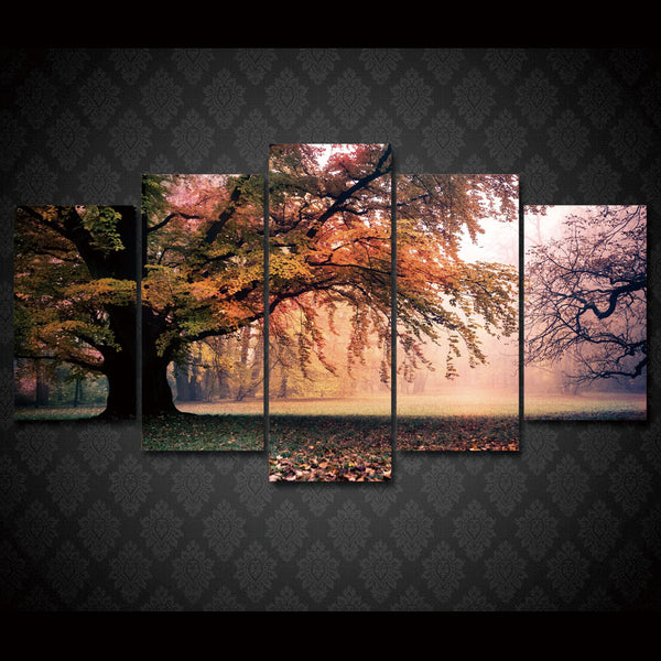 HD Printed fall tree Group Painting Canvas Print room decor print poster picture canvas Free shipping/ny-237